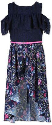 Knitworks Knit Works Short Sleeve Cold Shoulder Sleeve Skater Dress Girls
