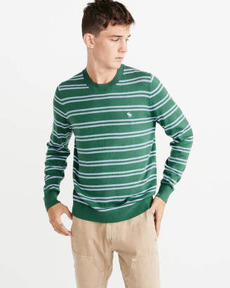Abercrombie & Fitch Icon Striped Crew Sweater