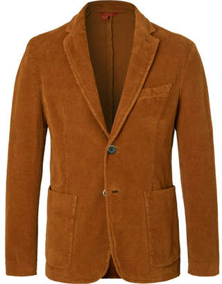 Barena Tobacco Unstructured Stretch-Cotton Corduroy Blazer
