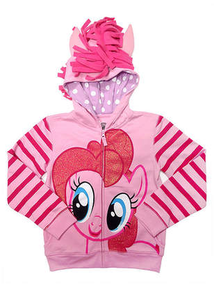 Asstd National Brand My Little Pony Girls Pinkie Pie Costume Hoodie with Crystalline and 3D Mane