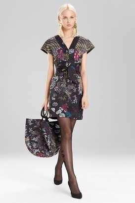 Natori Josie Dragon Jacquard Dress