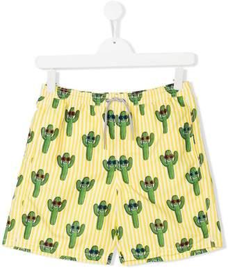 MC2 Saint Barth Kids Teen cactus print swim shorts