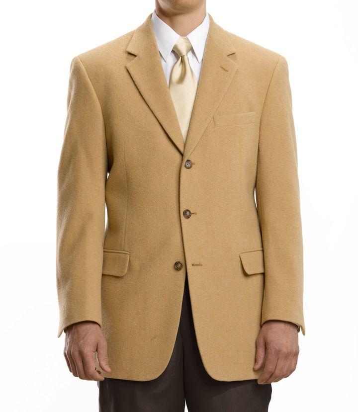 Jos. A. Bank Executive 3-Button Camel Hair Blazer