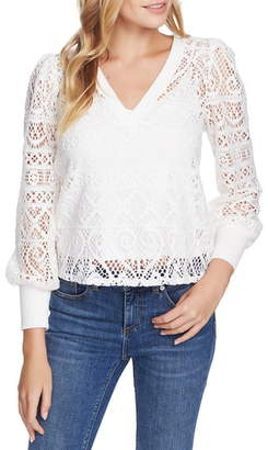 1 STATE 1.STATE Cozy Lace Knit Top