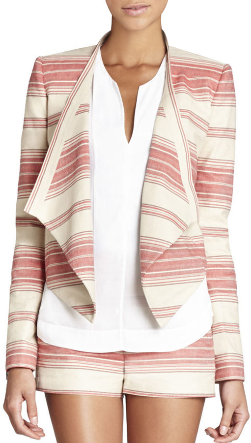 BCBGMAXAZRIA Abbey Cropped Relaxed Jacket