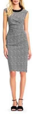 Adrianna Papell Jeweled Neckline Sheath Dress