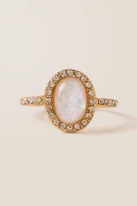 francesca's Farrah Opal Ring - White