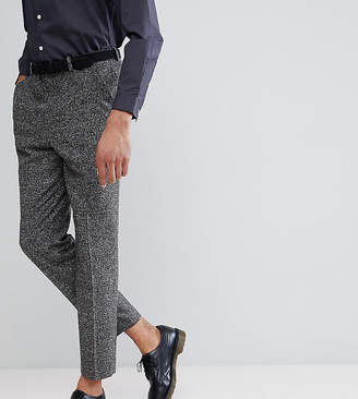 Asos DESIGN TALL Drop Crotch Tapered Smart Pants In Charcoal Texture