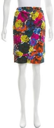 Dries Van Noten Floral Print Knee-Length Skirt