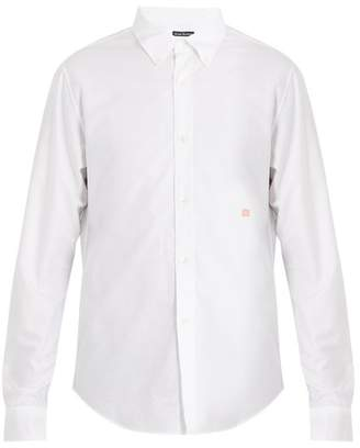 Acne Studios Ohio Face Cotton Shirt - Mens - White