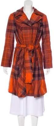 Kenzo Houndstooth Wool Coat