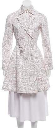 Alaia Embroidered Trench Coat w/ Tags