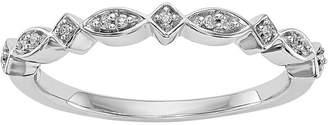MODERN BRIDE Womens 2.5mm Diamond Accent 14K White Gold Wedding Band