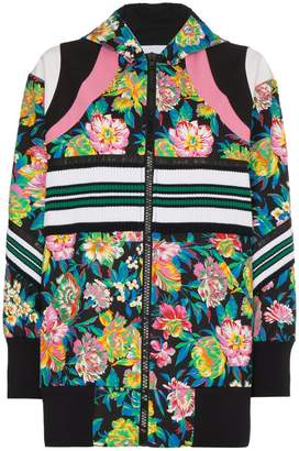 MSGM floral hooded bomber Jacket