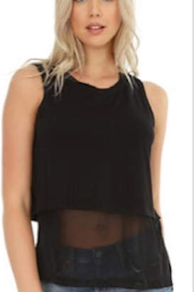 Bobi Los Angeles Layered Mesh Tank