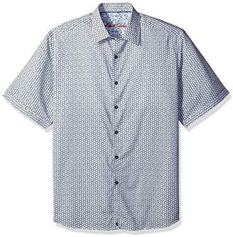 Robert Graham Men's Tall Size Downey S/s Classic Fit Woven Shirt