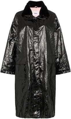 Stand Maia papery print patent parka