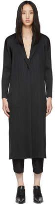 Pleats Please Issey Miyake Black Pleated Coat