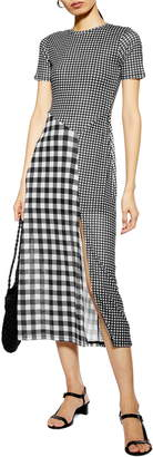 Topshop Gingham Midi Dress