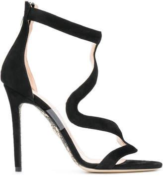 Cesare Paciotti wavy strap sandals