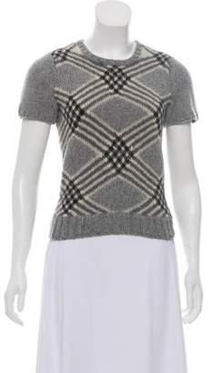 Oscar de la Renta Cashmere Short Sleeve Sweater