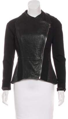 Ted Baker Structured Leather Jacket