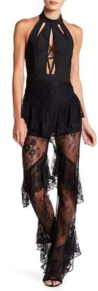 Wow Couture Lace Paneled Jumpsuit