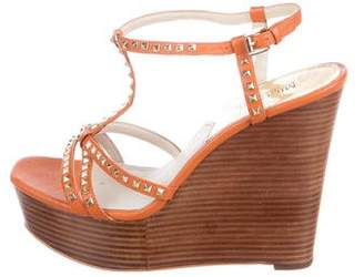 MICHAEL Michael Kors Leather Studded Wedges