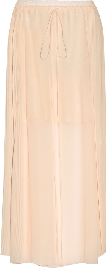 See By Chloe See by Chloé Pleated chiffon maxi skirt
