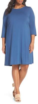 Eileen Fisher Jewel Neck Tie Back Dress