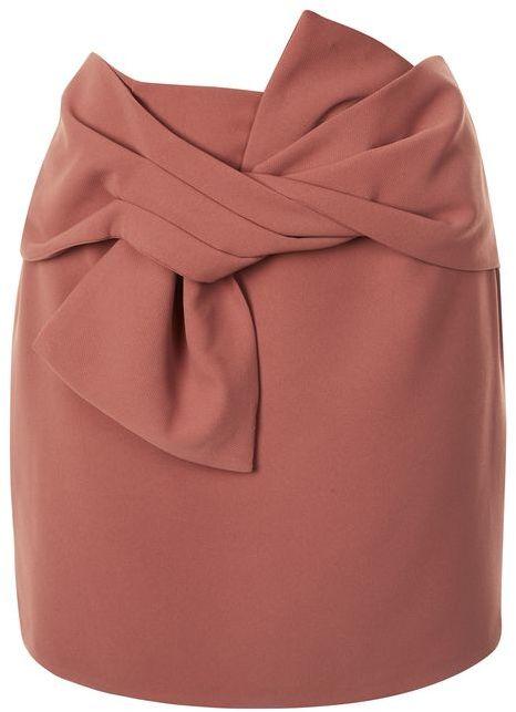 TopshopTopshop Tie front pelmet skirt