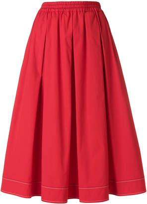 Fay pleated A-line skirt