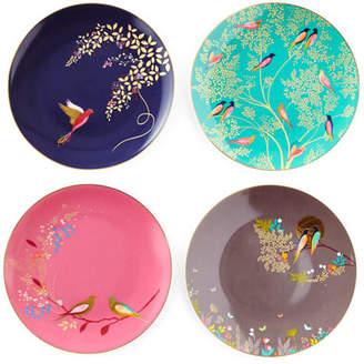 Portmeirion Sara Miller Gold-Plated Assorted Plates, Set of 4