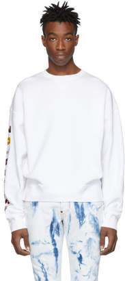 DSQUARED2 White Ball Fit Flocked Sweatshirt
