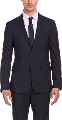 Ermenegildo Zegna Monaco Wool Suit W/ Flat Front Pant