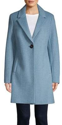 Sam Edelman Single-Button Notch Coat