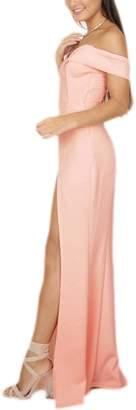 Fanvans Women Elegant Maxi Dress Strapless Tub Tops High Slit Wedding Skirts L