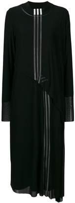 Y-3 striped midi dress