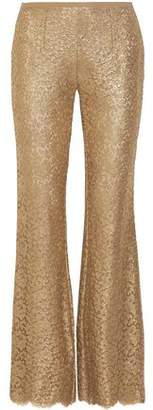 Michael Kors Metallic Corded Lace Flared Pants