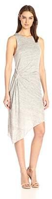 KENDALL + KYLIE Women's Asymmetric Ruched Dress, S