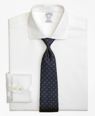 Brooks Brothers Regent Fitted Dress Shirt, Non-Iron Textured Solid