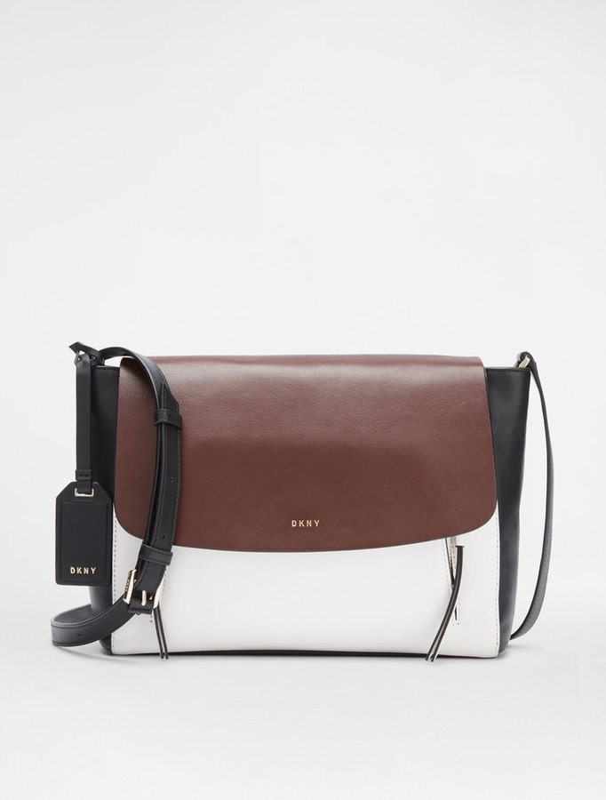 DKNY Flap Messenger Bag