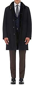 Gimos Men's Wool-Cashmere Shearling-Lined Coat - Black