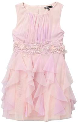 My Michelle mymichelle Ombre Ruffle Dress with Jeweled Waistband (Big Girls)