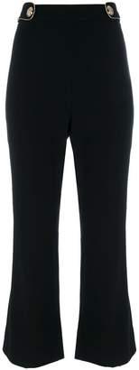 Roberto Cavalli waist straps flared trousers
