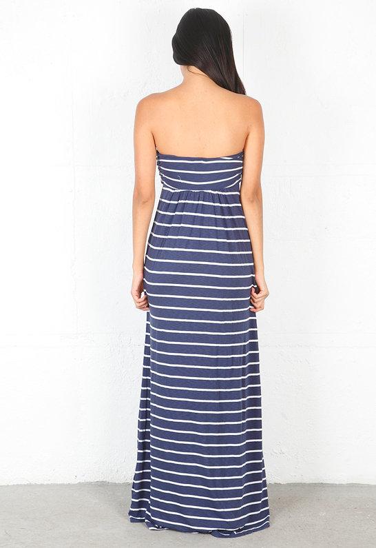 Splendid Halter Stripe Maxi Dress in Denim -