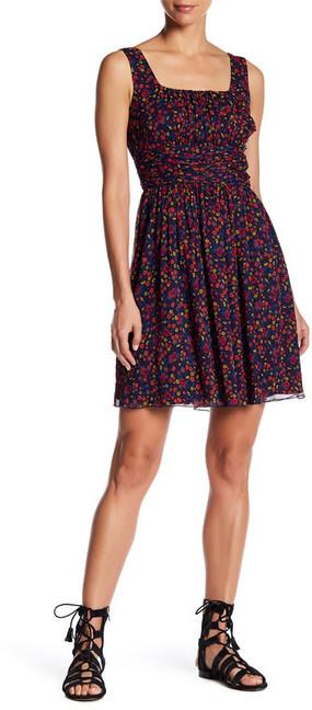 Anna SuiAnna Sui Pansy Print Crinkle Silk Tank Dress