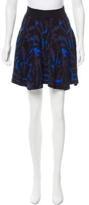 Torn By Ronny Kobo Flared Mini Skirt