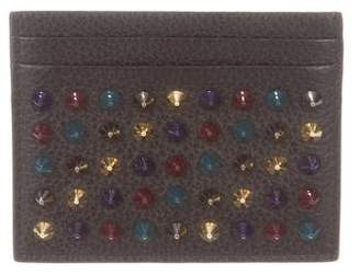 Christian Louboutin Spiked Leather Card Case