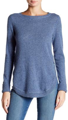 Cullen Curved Hem Cashmere Sweater $288 thestylecure.com